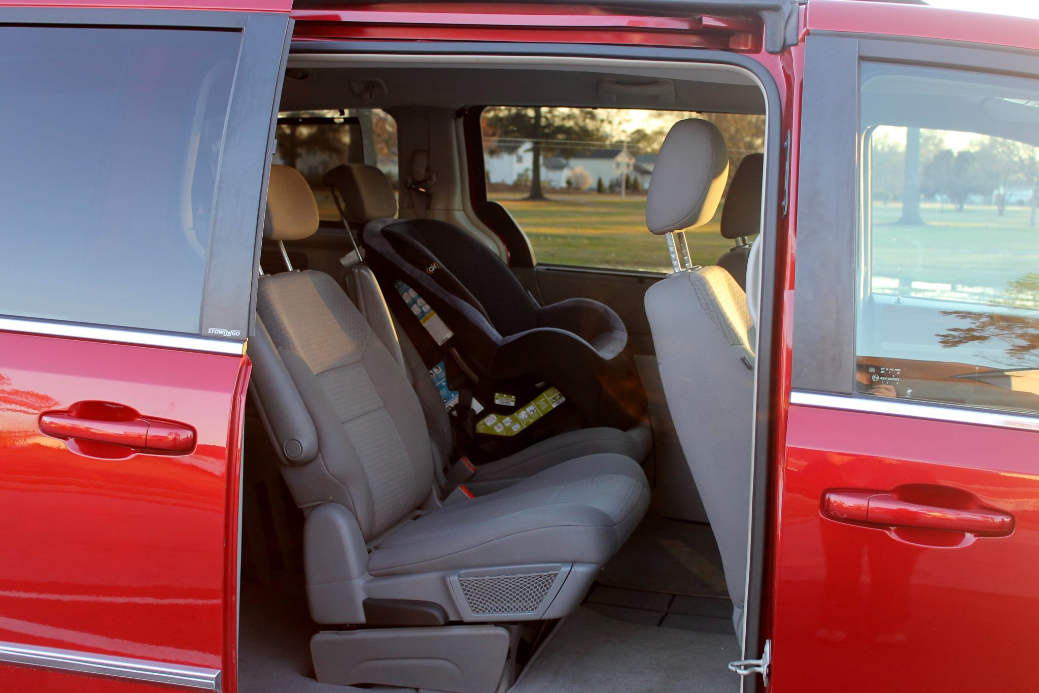 Bigger vehicle minivan pregnancy announcement idea