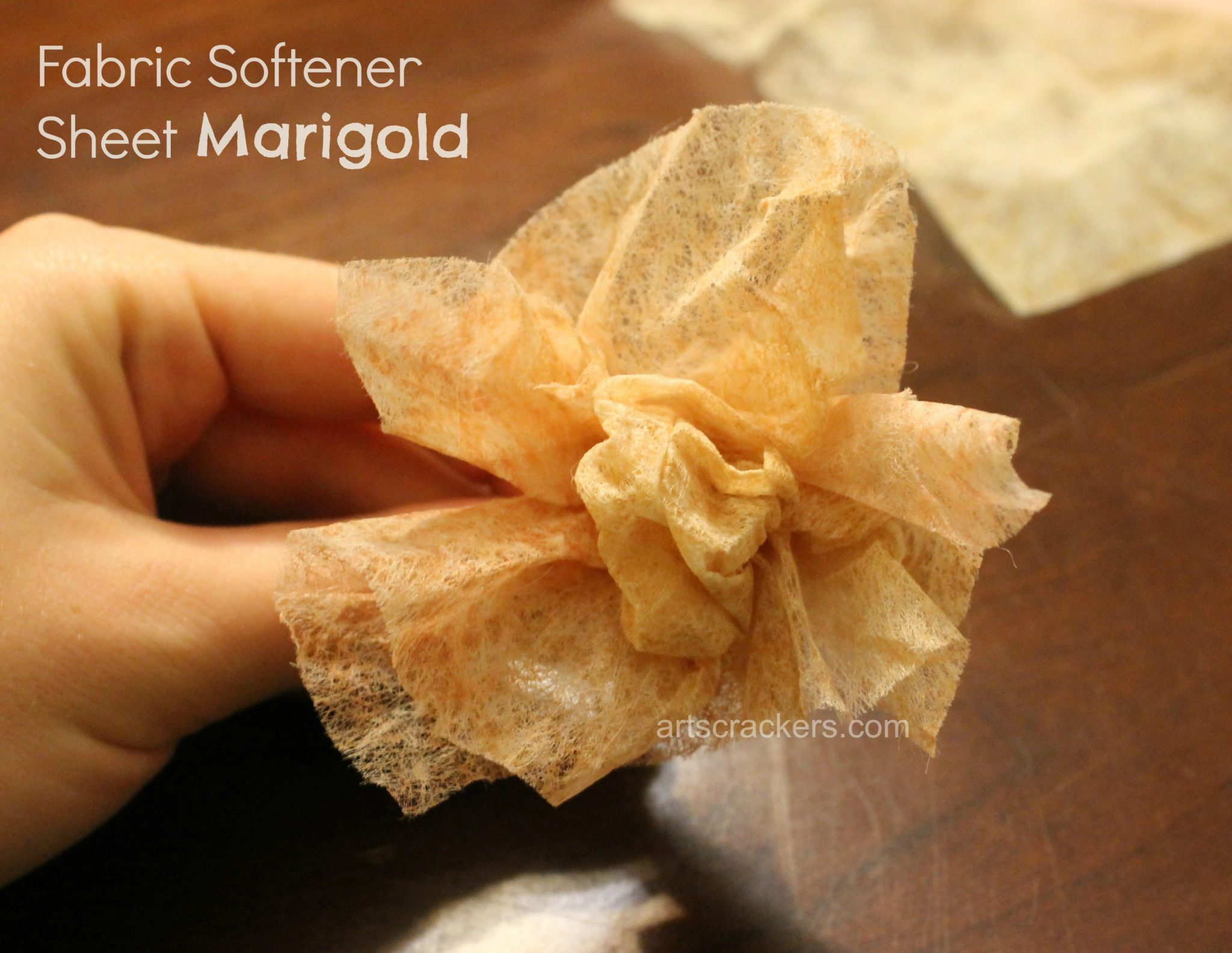 Fabric Sheets Marigold. Click the picture to view the tutorial.