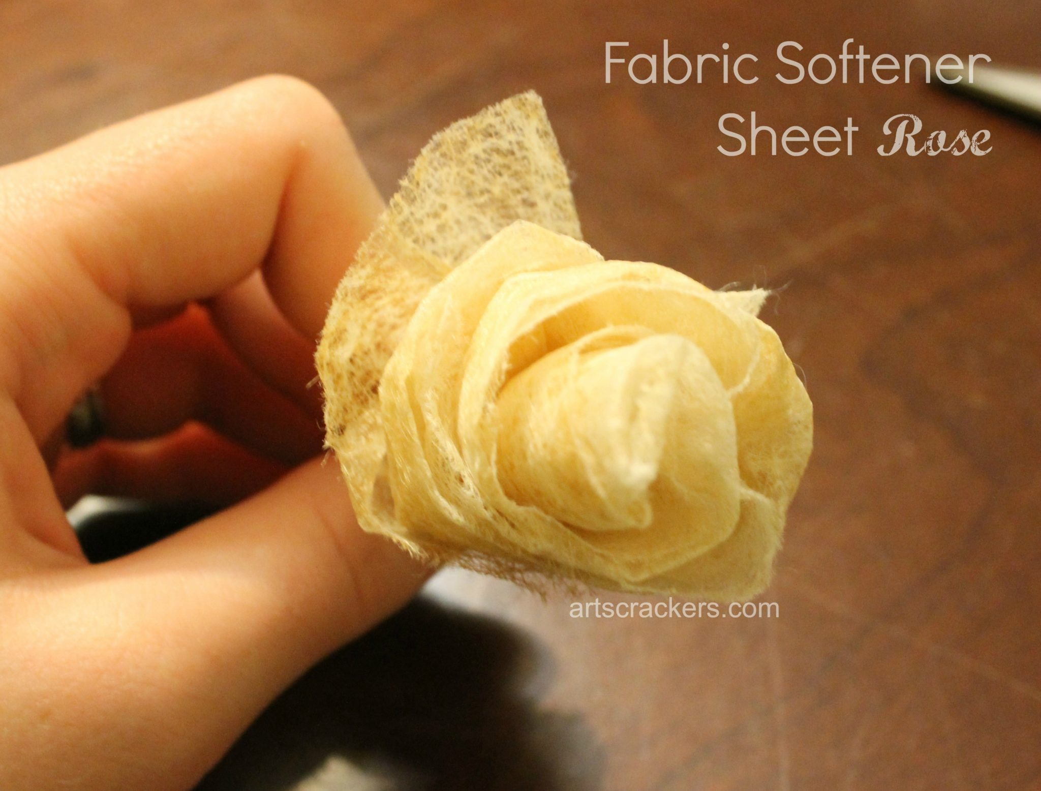 Fabric Sheets Rose. Click the picture to view the tutorial.
