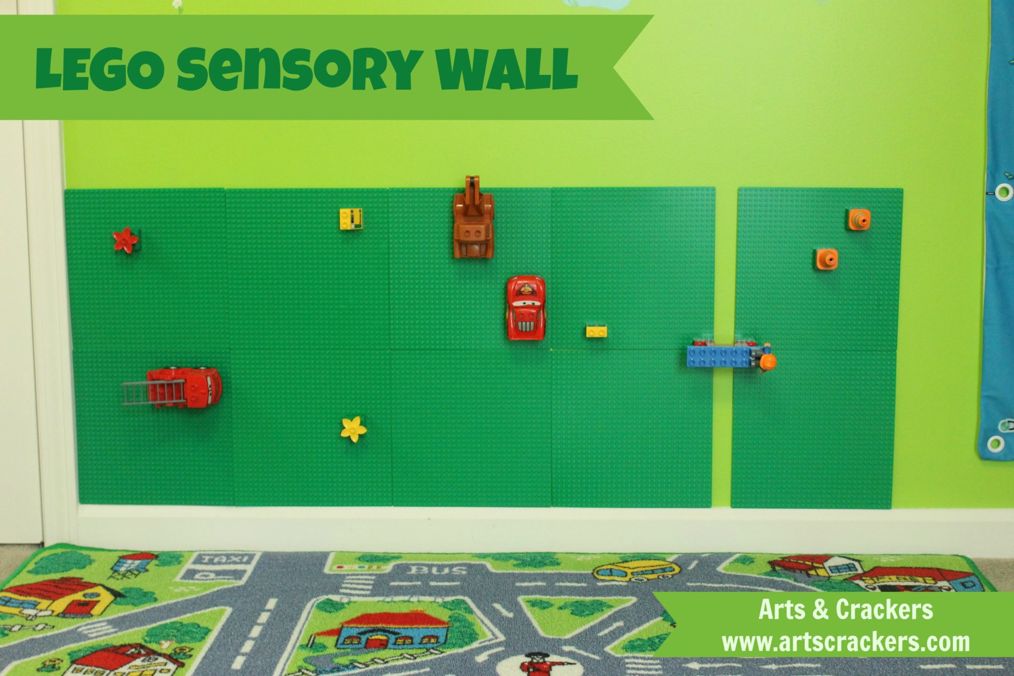 Easy Lego Sensory Wall | Vertical LEGO Kids Room Decor