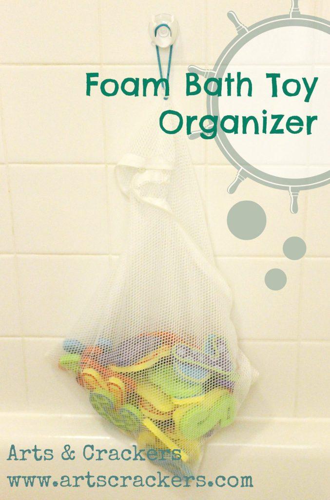 bath toy organizer foam letter hanger