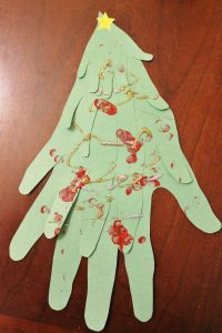 Christmas family handprint tree