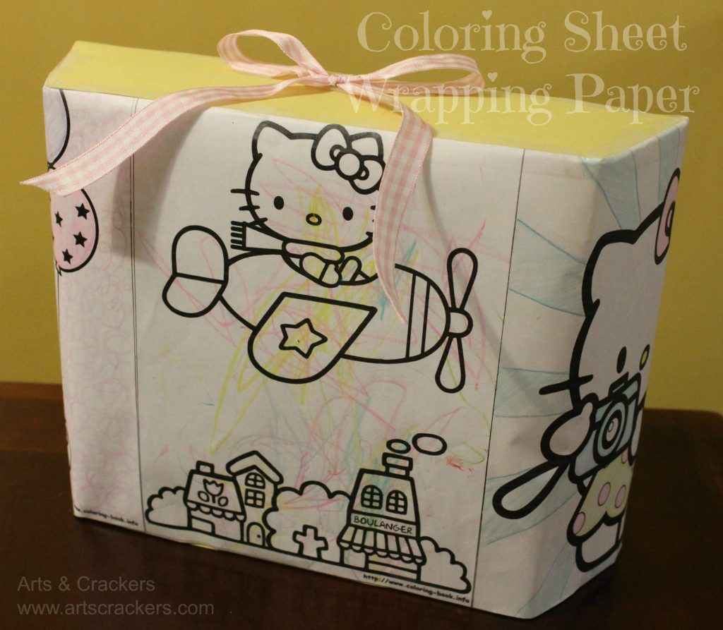 coloring sheet wrapping paper