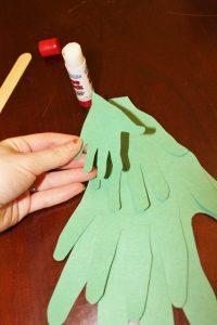 gluing hand tree