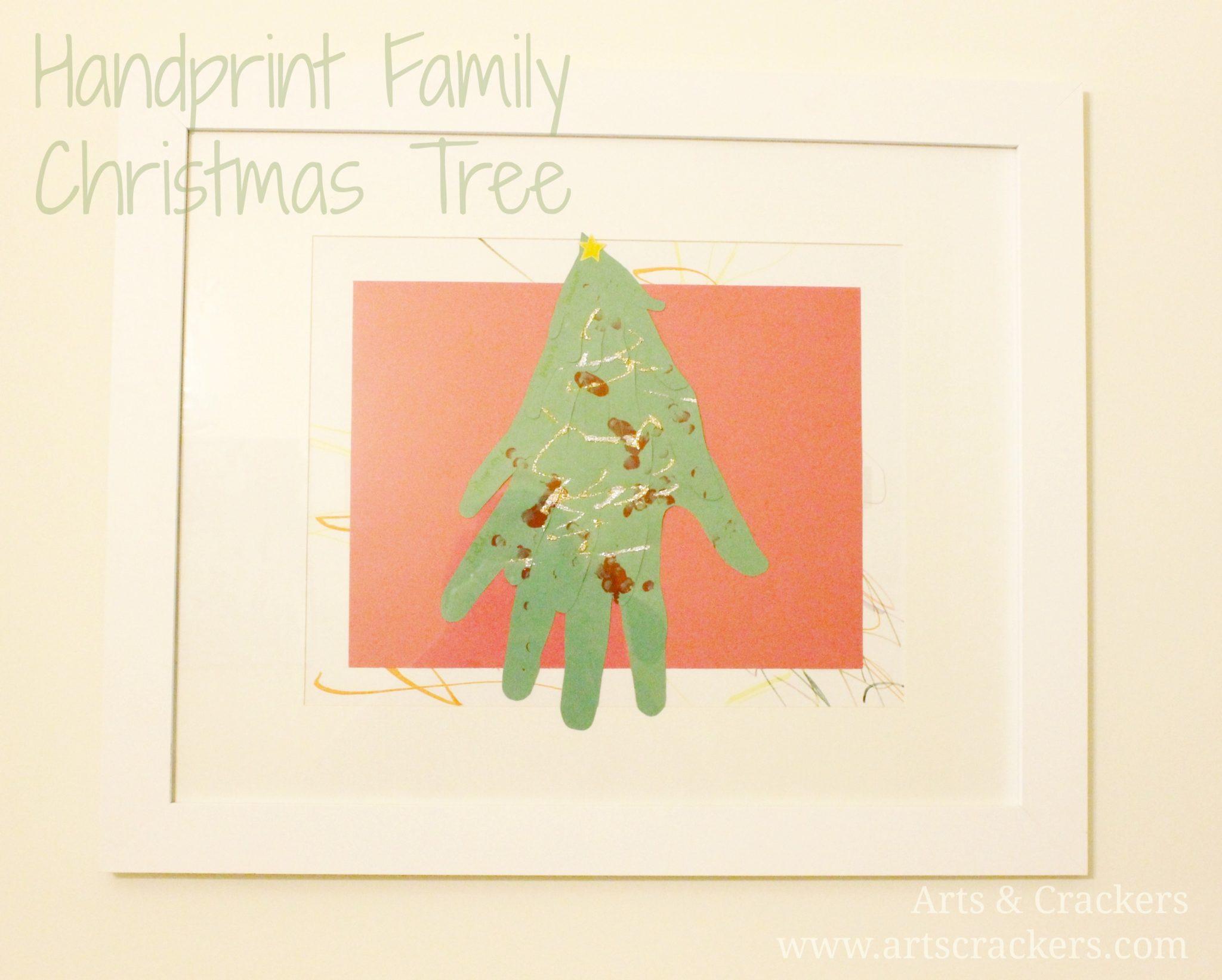 Handprint Family Christmas Tree