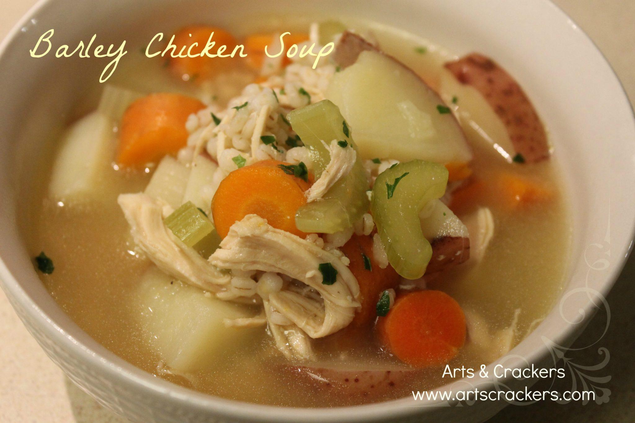 Basic Barley Chicken Soup *Recipe*