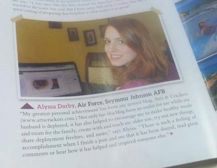 arts and crackers ft in military spouse magazine