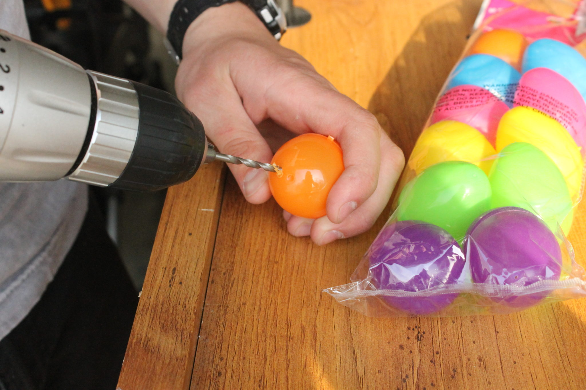 frozen yogurt easter egg pops drilling