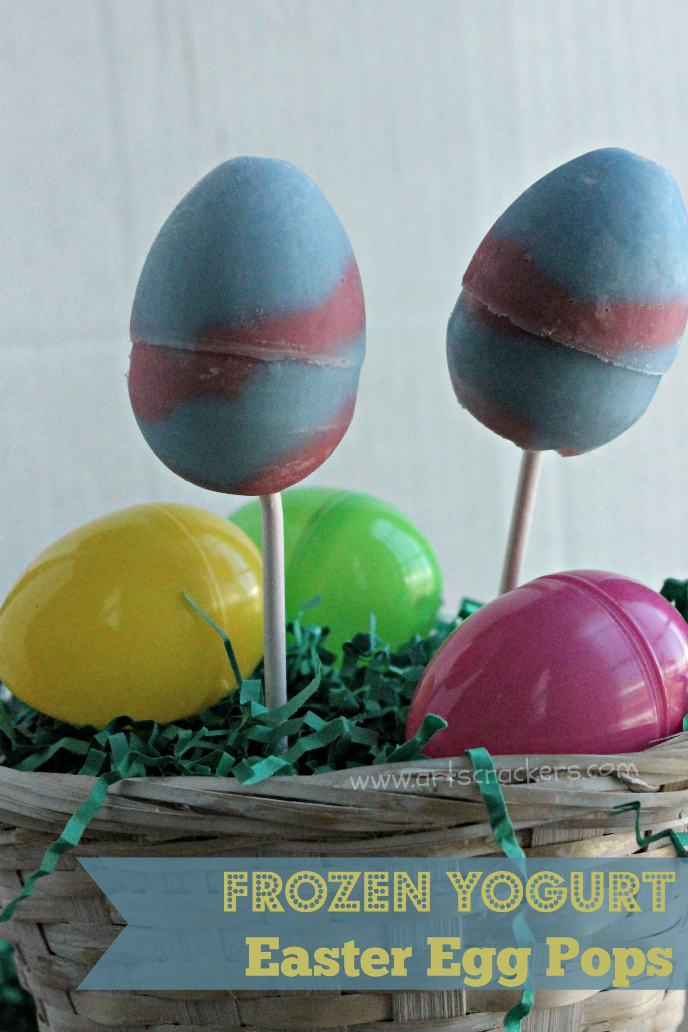 frozen yogurt easter egg pops