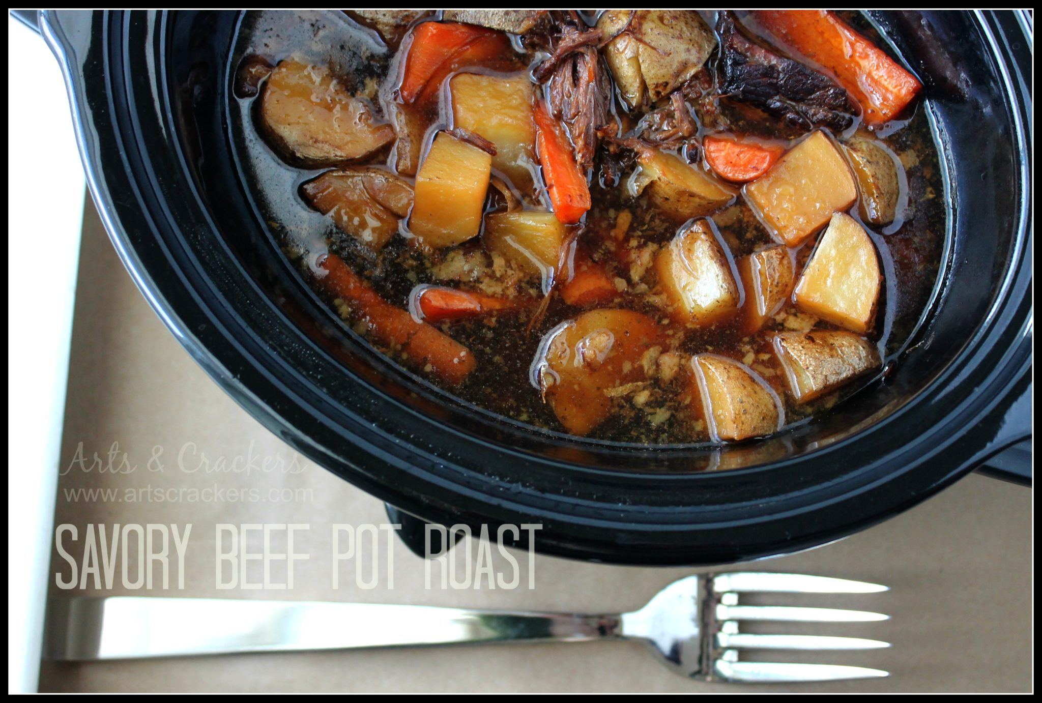 This savory beef pot roast is so simple and tender it melts in your ...
