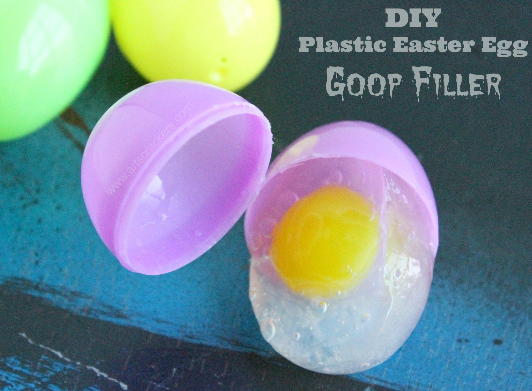 plastic easter egg goop filler