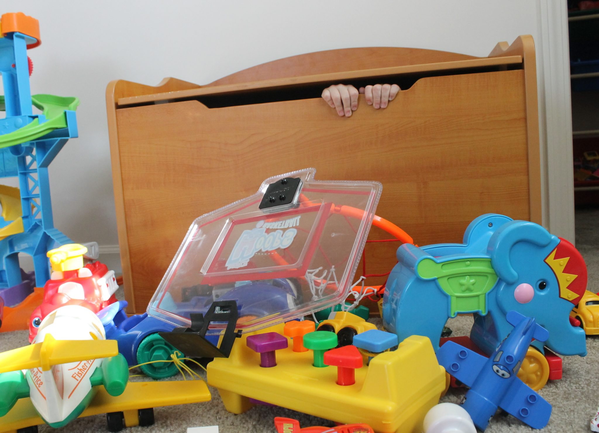 Hiding Inside KidKraft Austin Toy Box