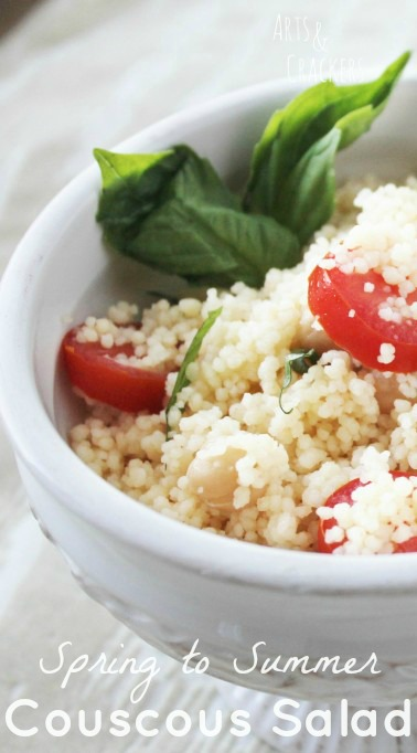 This vegan recipe is a refreshing and delicious couscous salad is a great spring and summer appetizers.