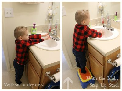 With and Without Nuby Step Up Stool