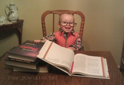 Cute Smart Baby Reading Textbooks