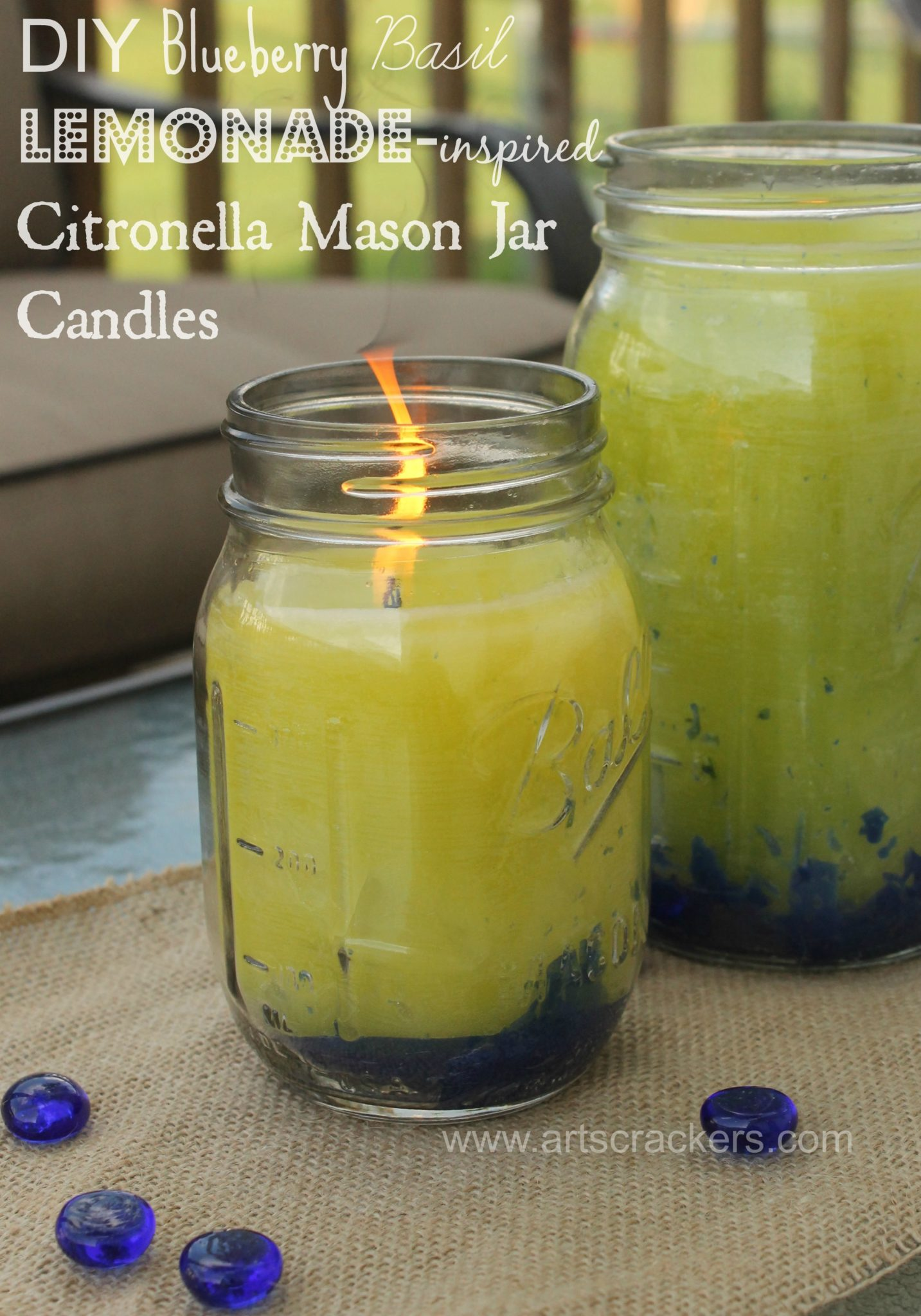 Homemade Natural Multi Color Citronella Candles