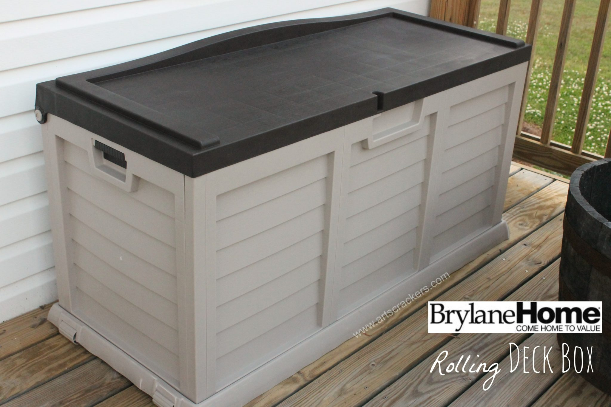 BrylaneHome Rolling Deck Storage Box