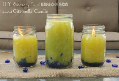 Lemon Basil Scented Mason Jar Citronella Candles