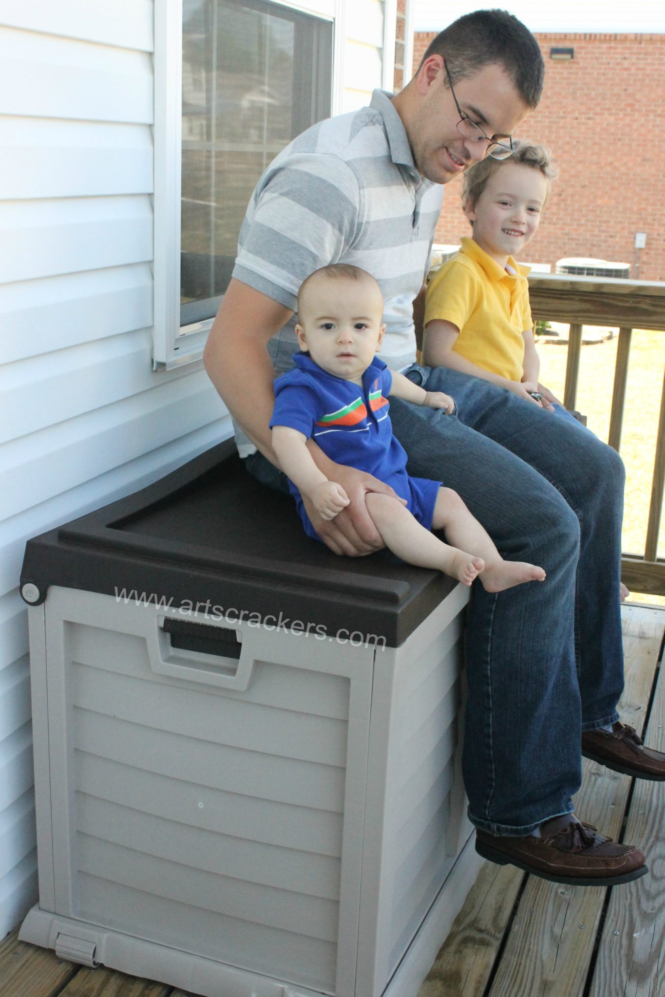 Sturdy Deck Box Outdoor Seating