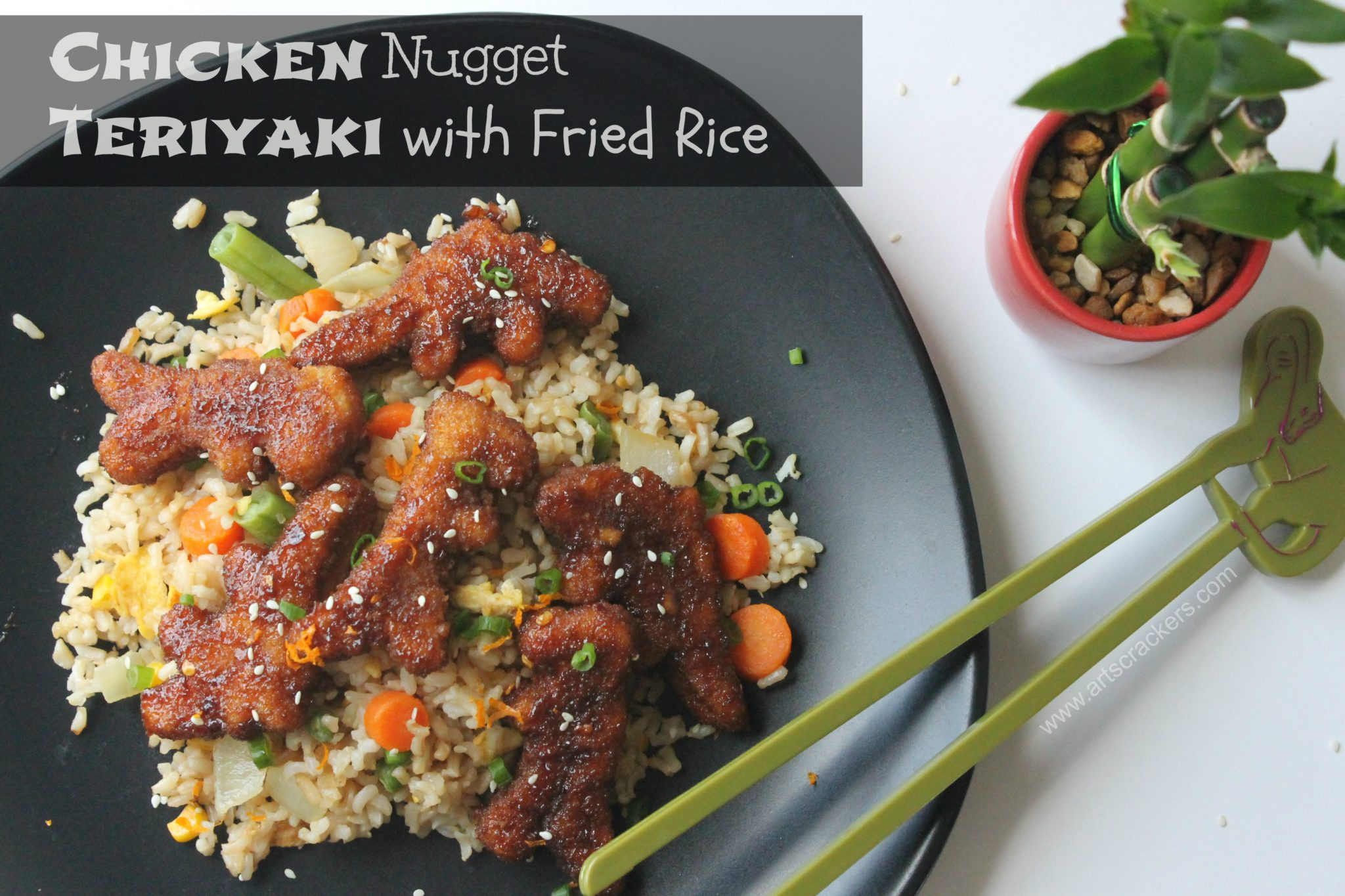 Chicken Nugget Teriyaki and Fried Rice | Family-Friendly Recipe