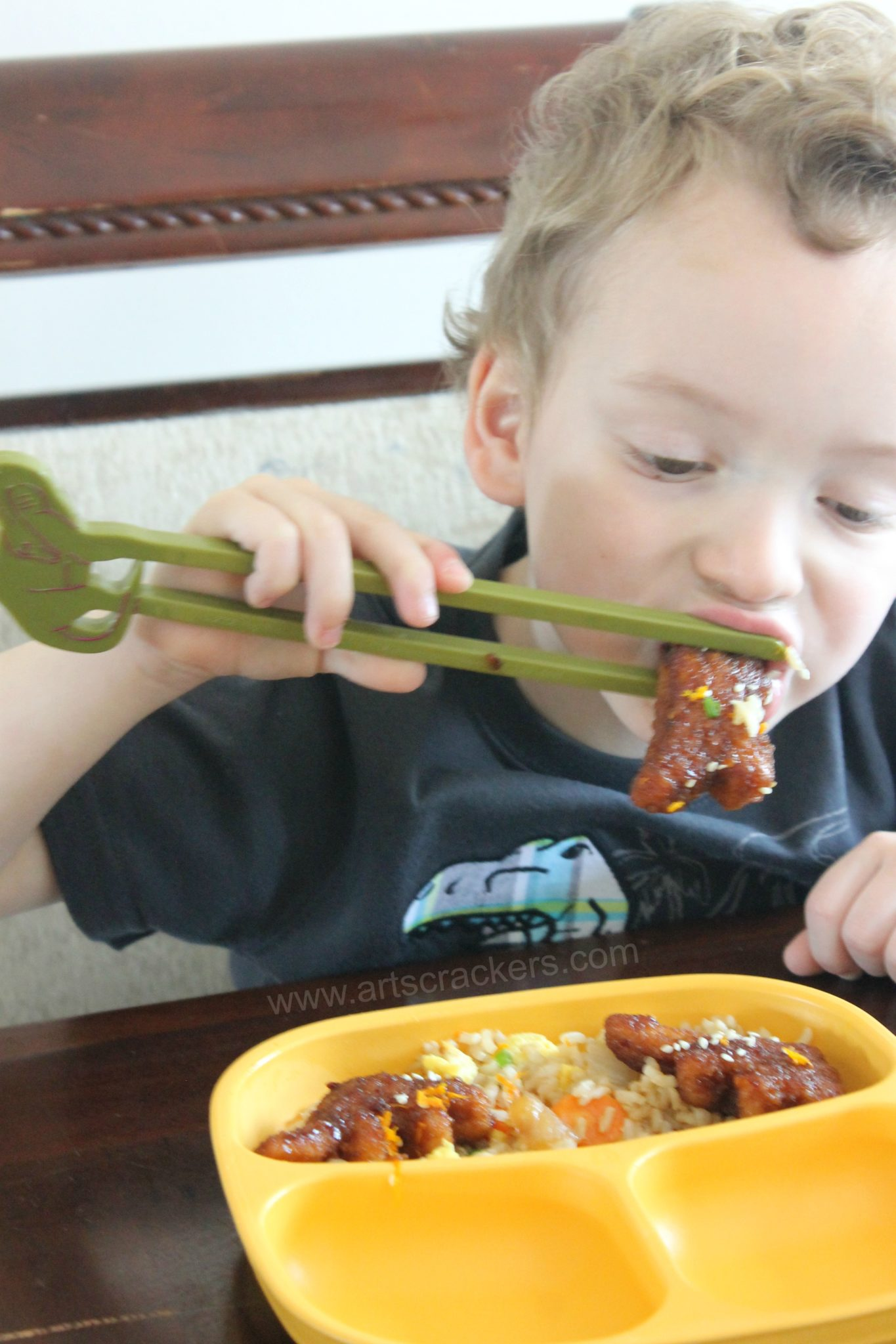 Eating With Training Chopsticks