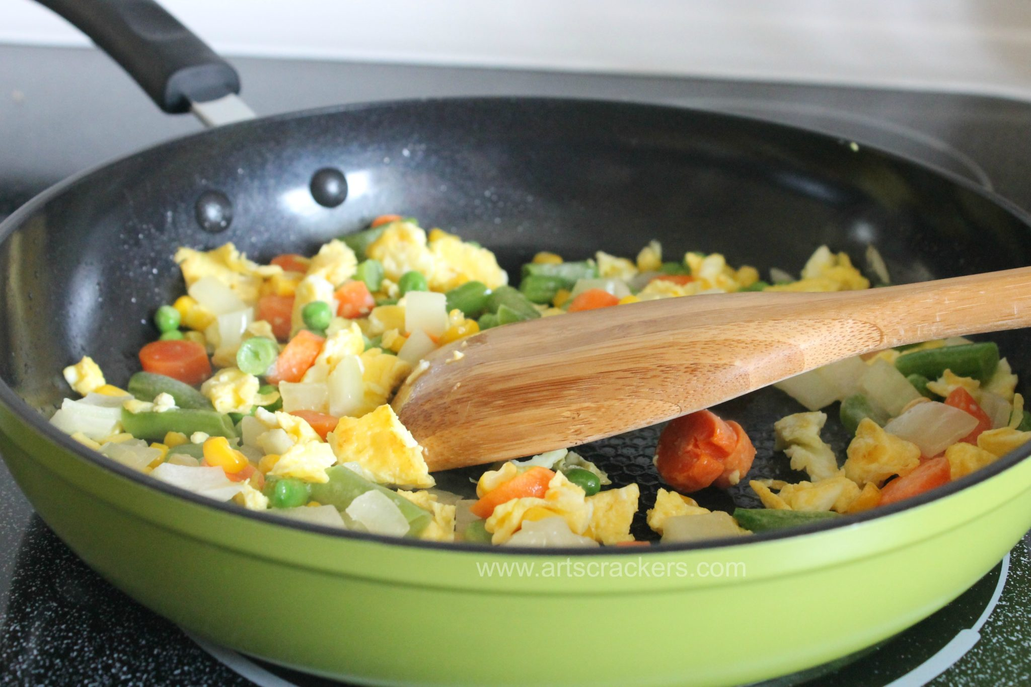 Fried Rice Vegetables and Egg