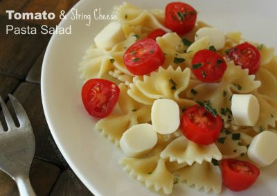 Mozzarella Cheese Basil Tomato Noodle Dinner