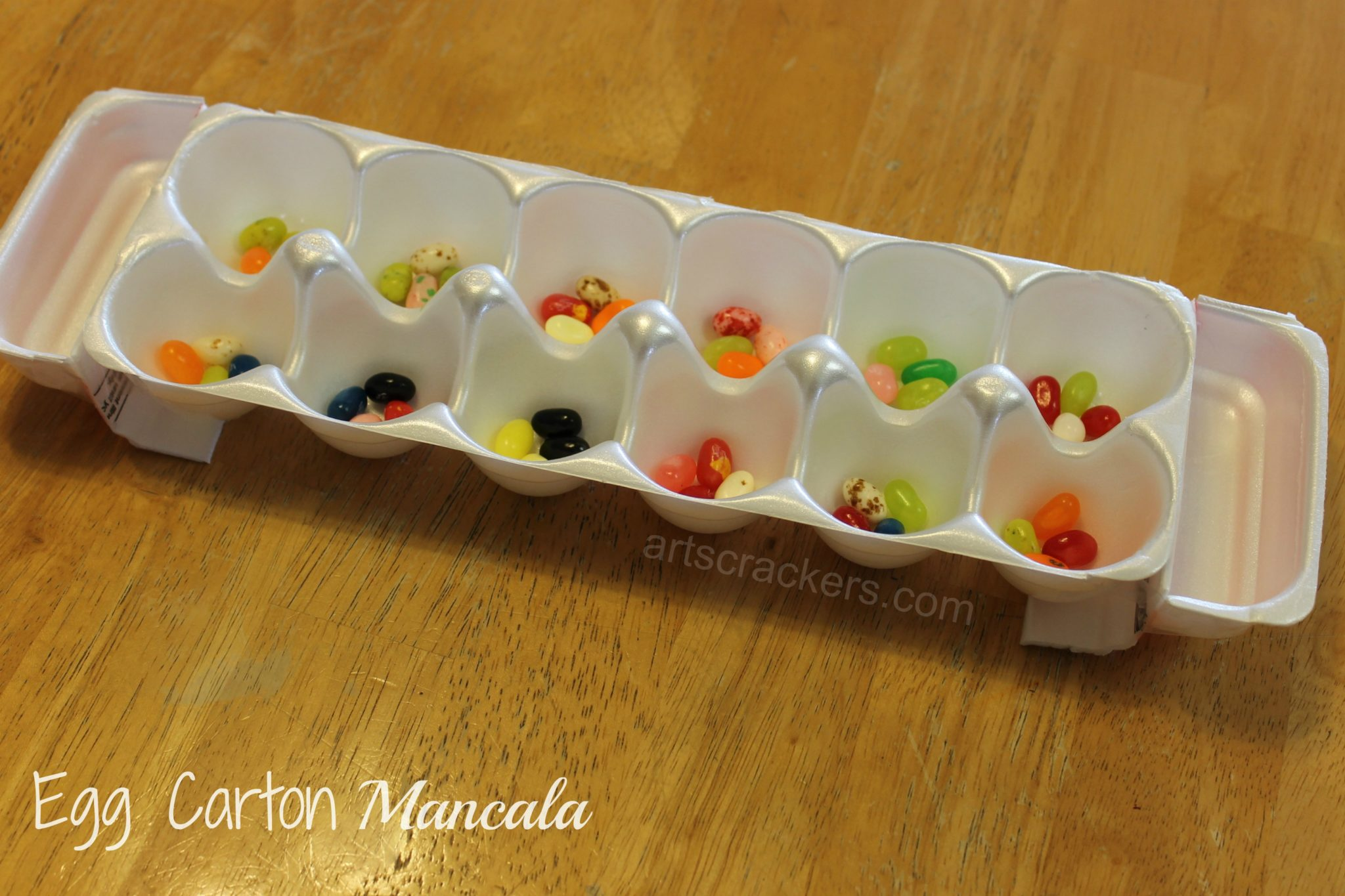 DIY Egg Carton Mancala Game