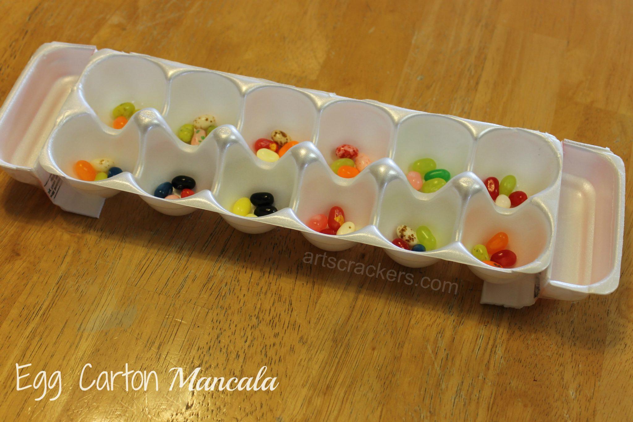 DIY Egg Carton Mancala Game