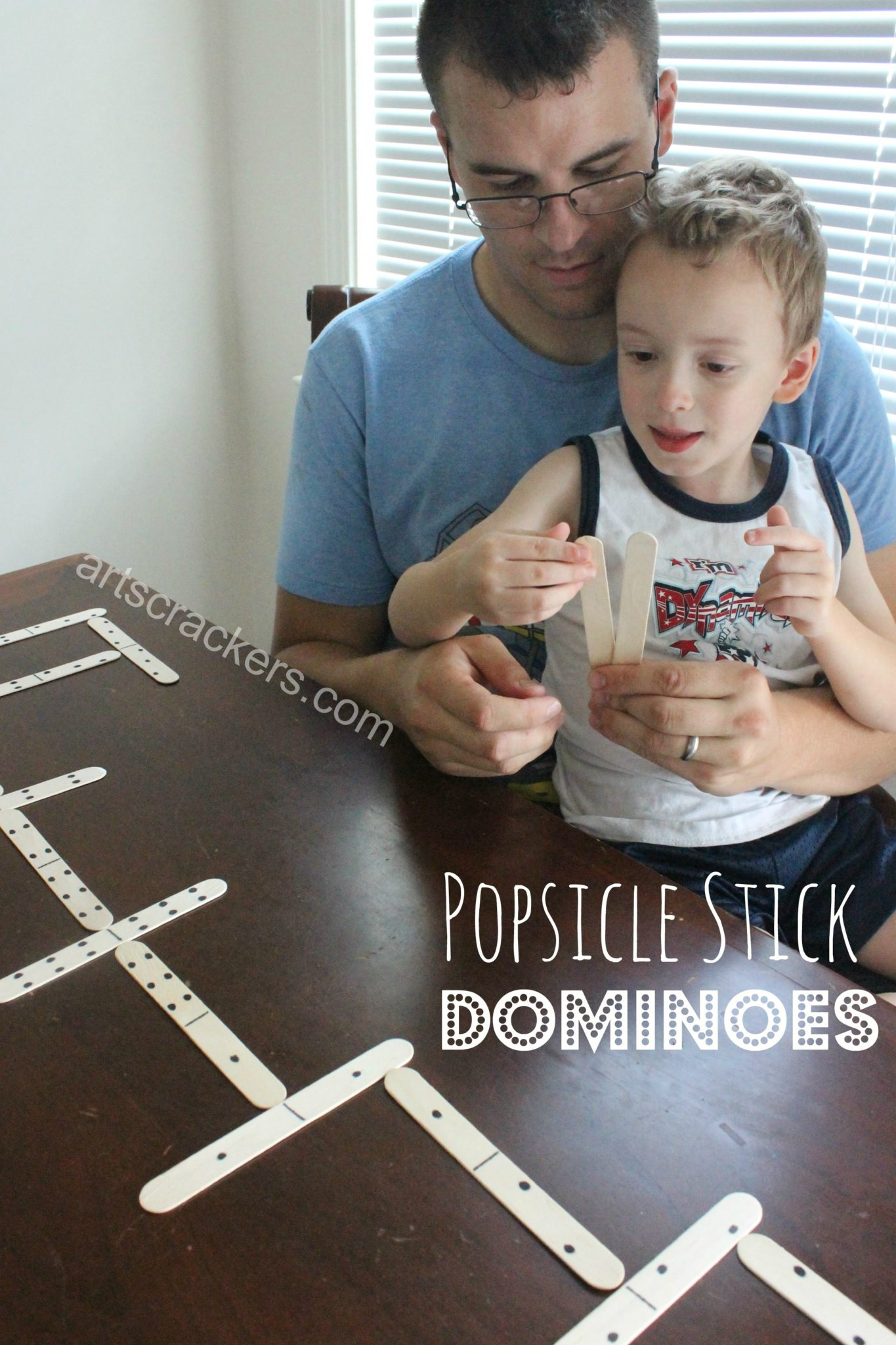 DIY Craft Stick Dominoes Game