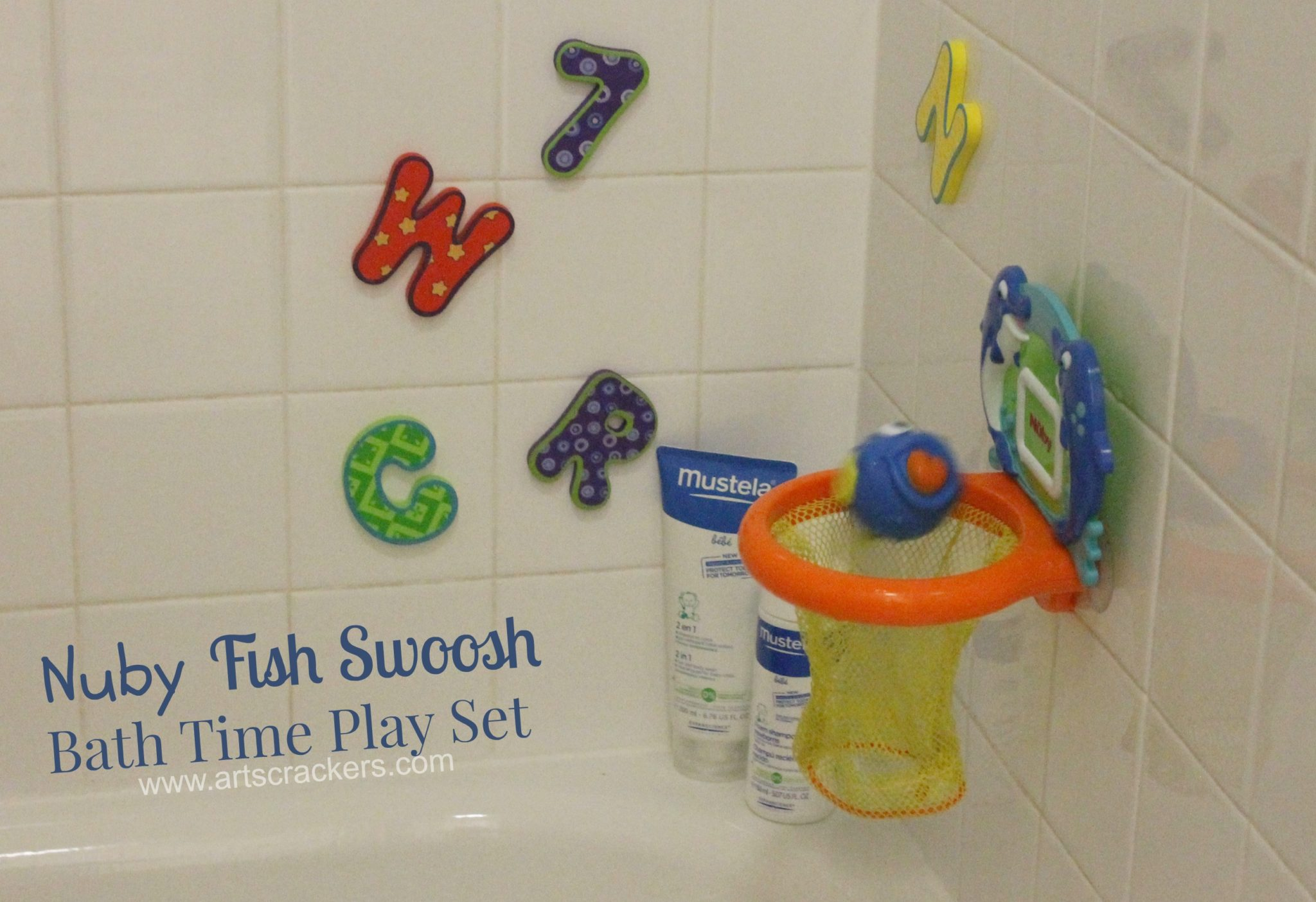Nuby Fish Swoosh Bath Hoop Game