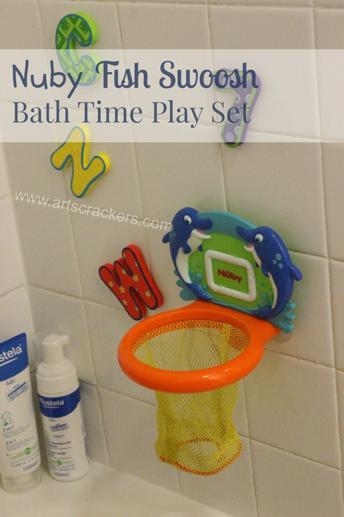 Nuby Fish Swoosh Bath Time Play Set
