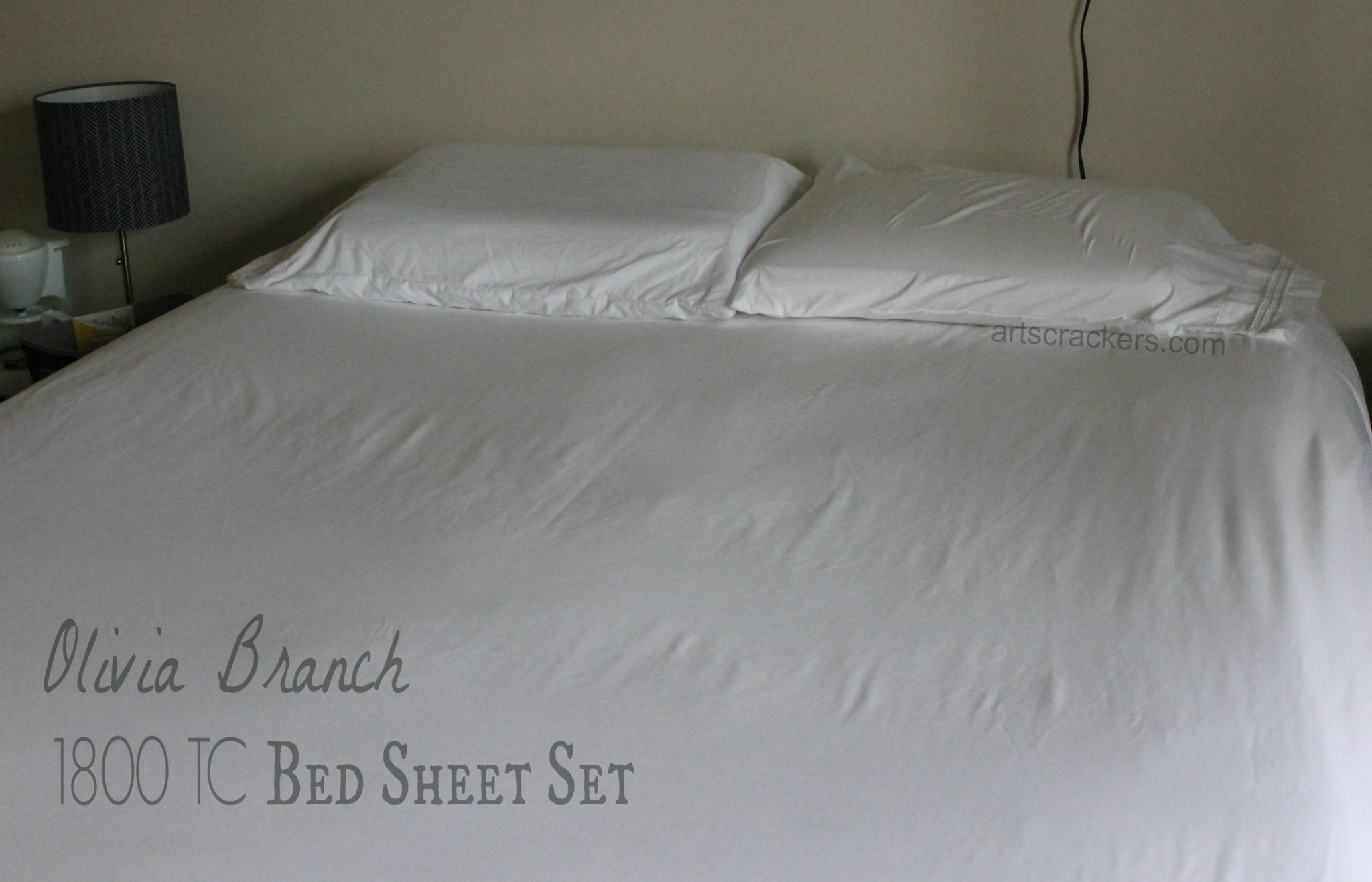 Olivia Branch 1800 Thread Count Bed Sheet Set