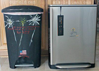 Regular Trashcan VS SimpleHuman Garbage Can