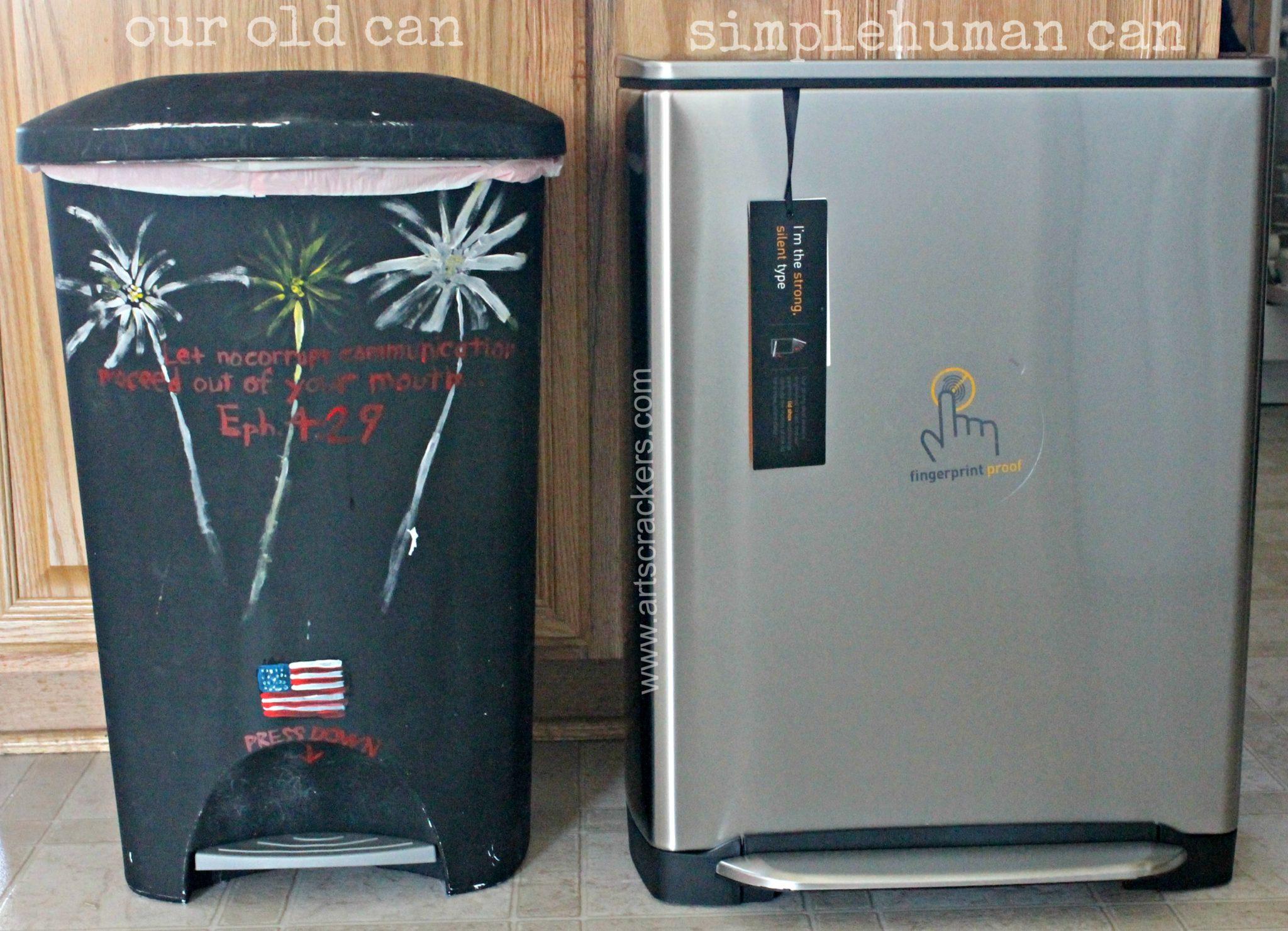 Regular Trashcan VS SimpleHuman Garbage
