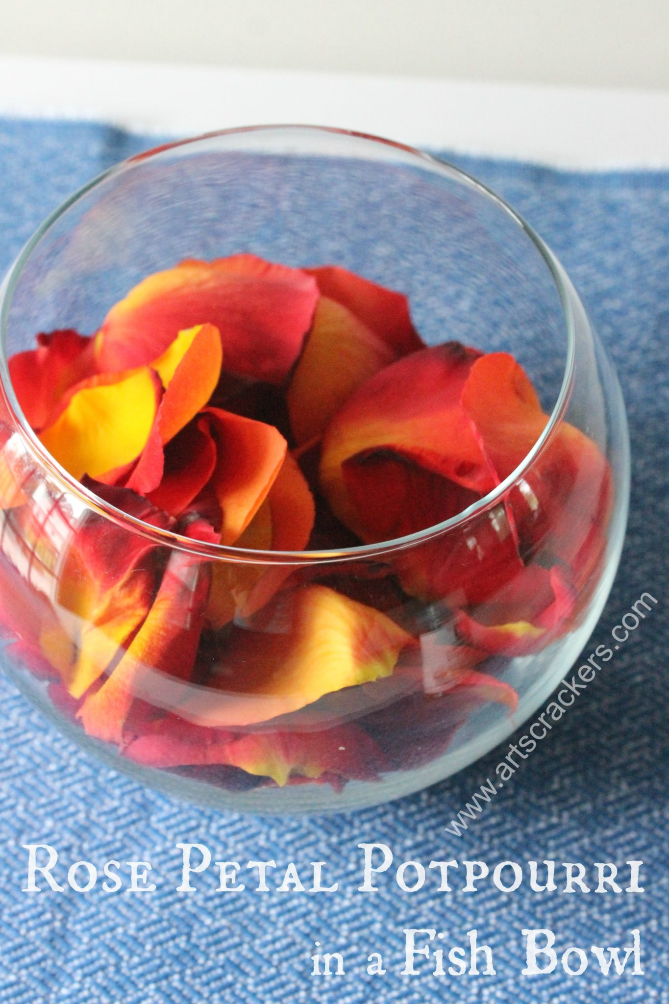 Rose Petal Potpourri in a Fish Bowl