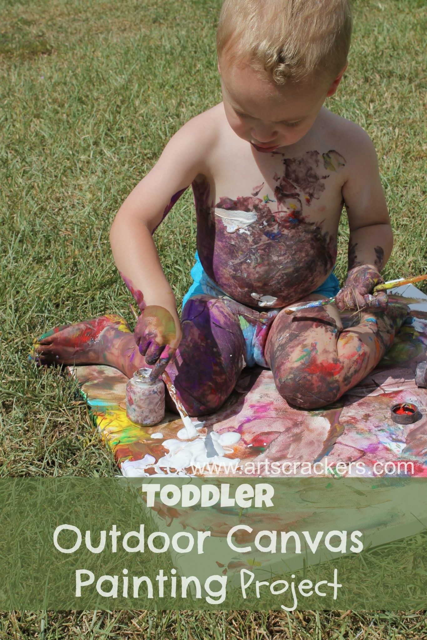 Toddler Outdoor Canvas Painting