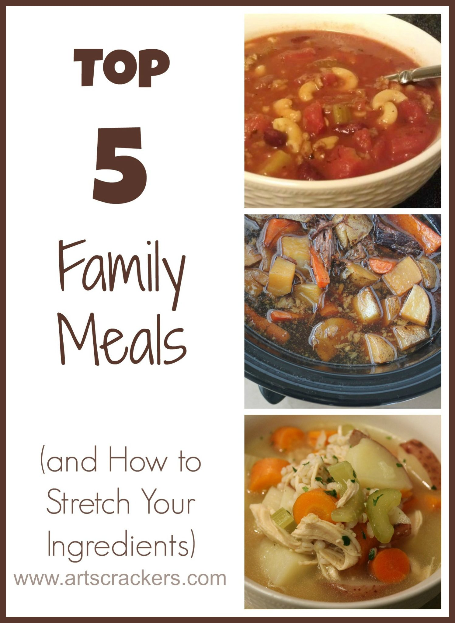Top 5 Family Meals High Five Friday