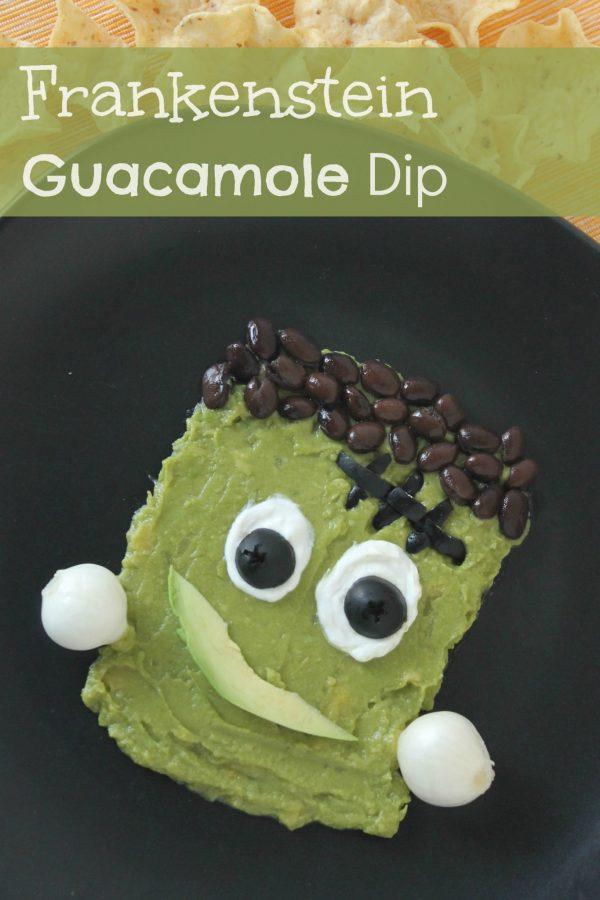 Frankenstein Face Guacamole Dip