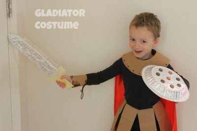 Gutsy Gladiator Homemade Costume
