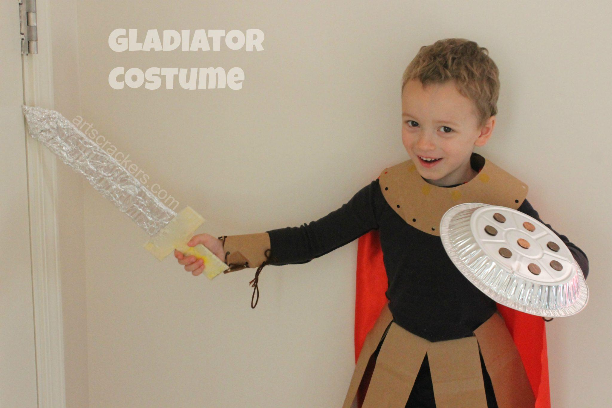 Gutsy Gladiator Homemade Costume