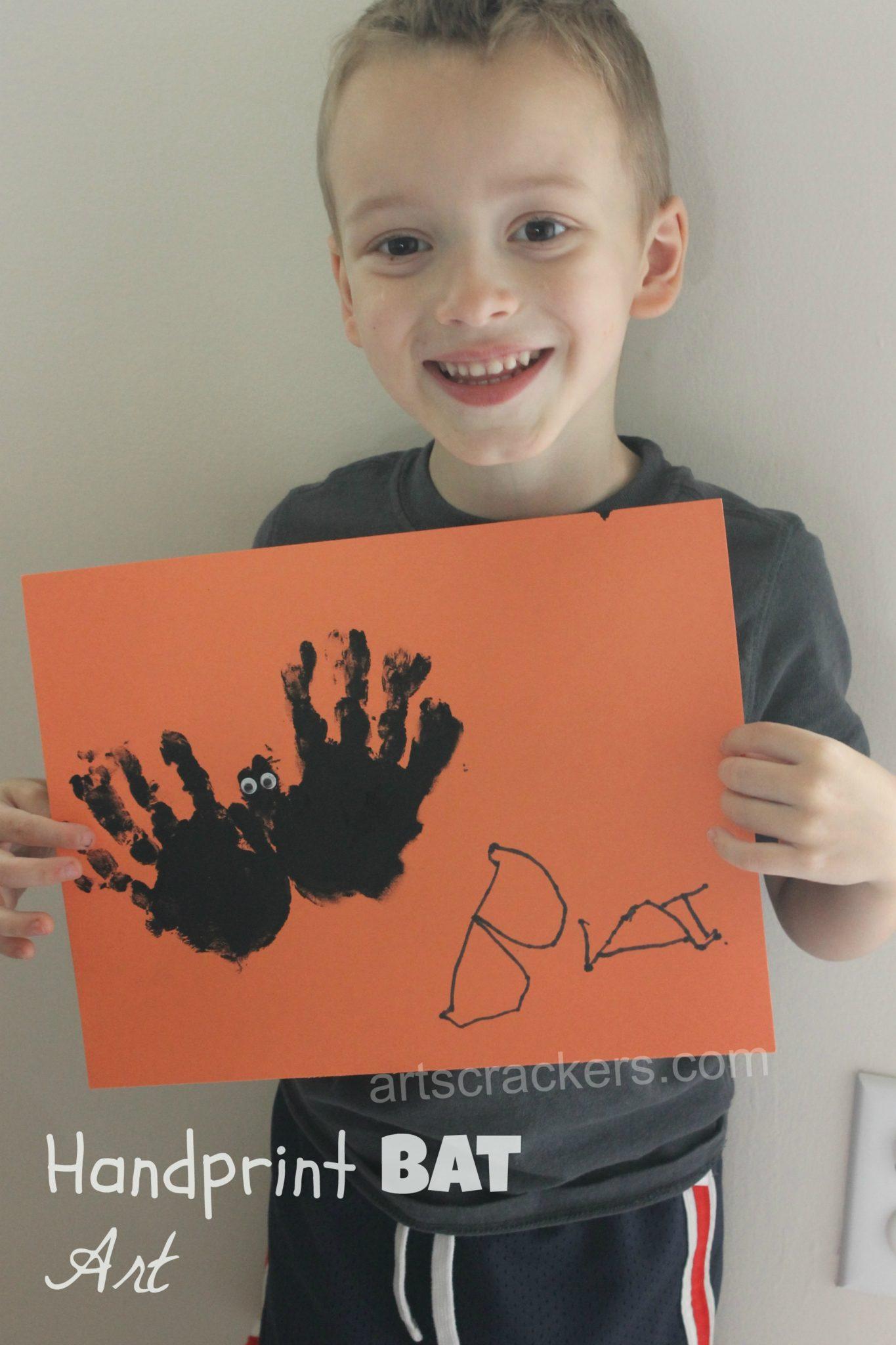 Handprint Bat Art Project