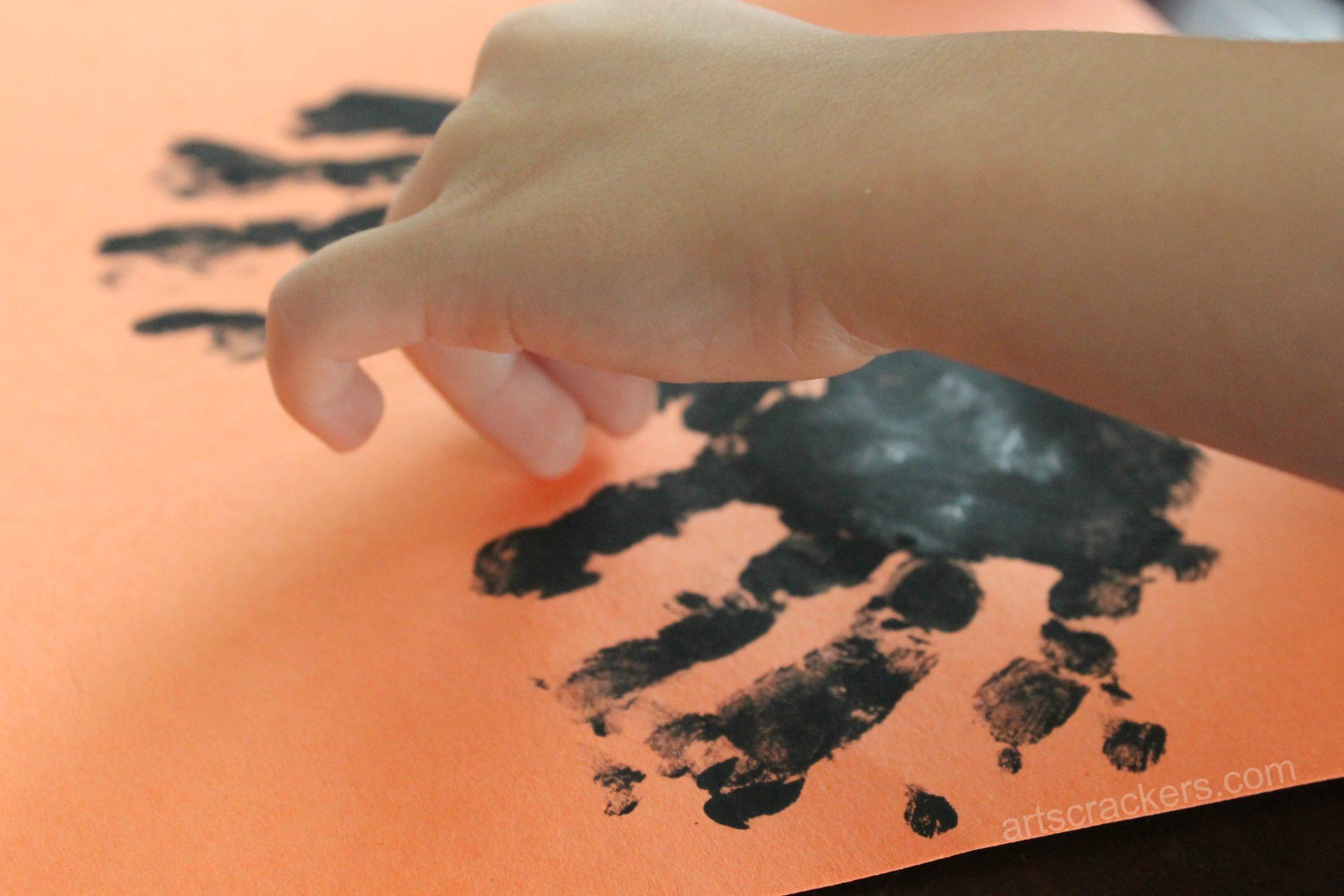 Handprint Bat Goggly Eyes