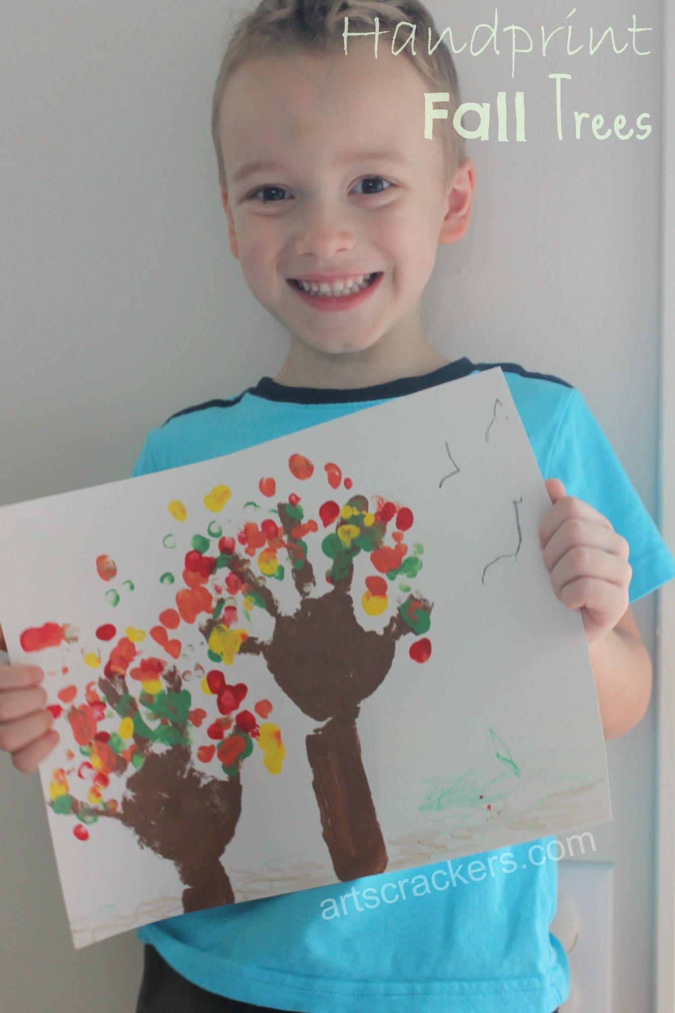 Handprint Fall Trees Craft