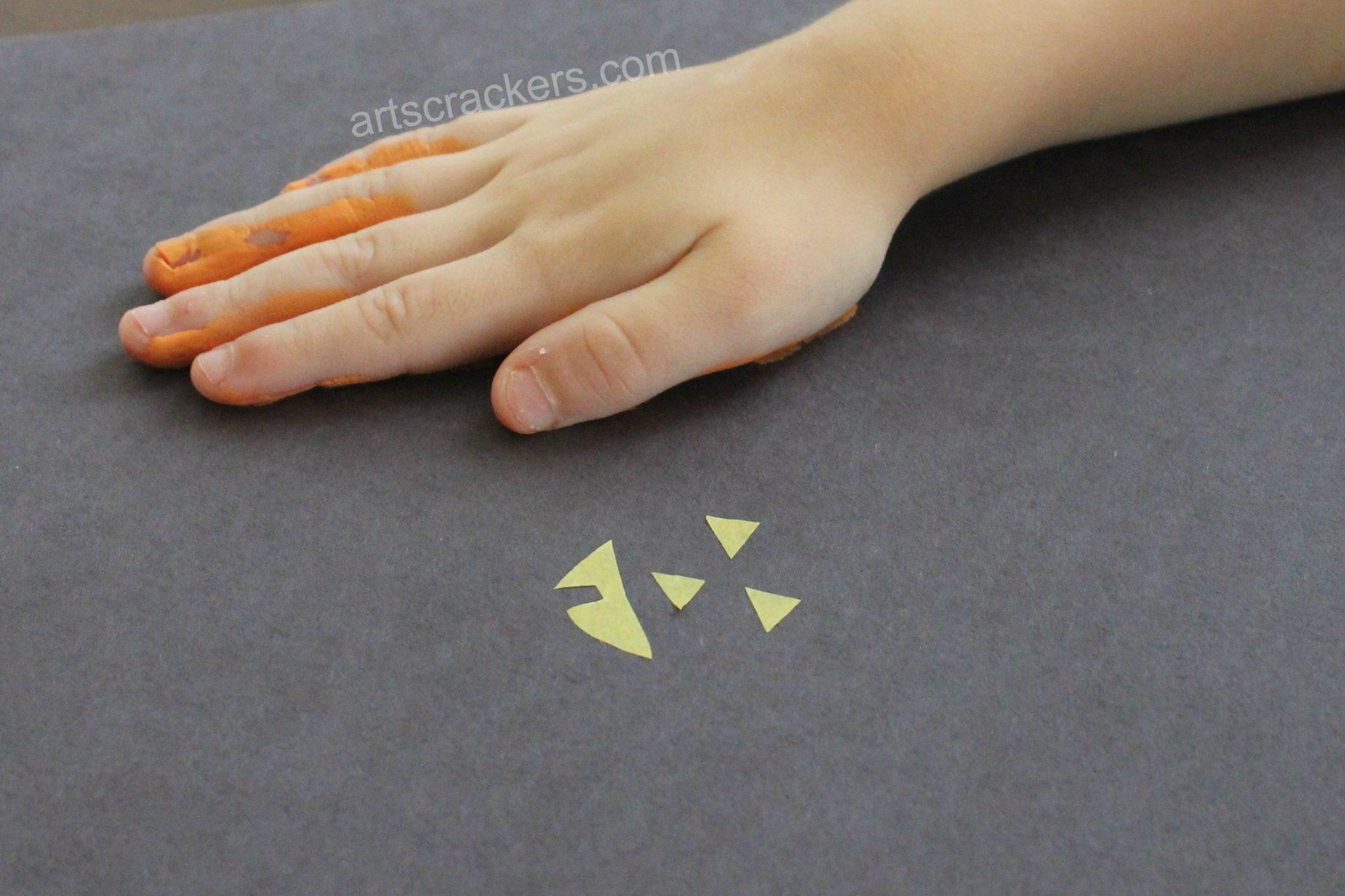 Handprint Pumpkins Hands Down