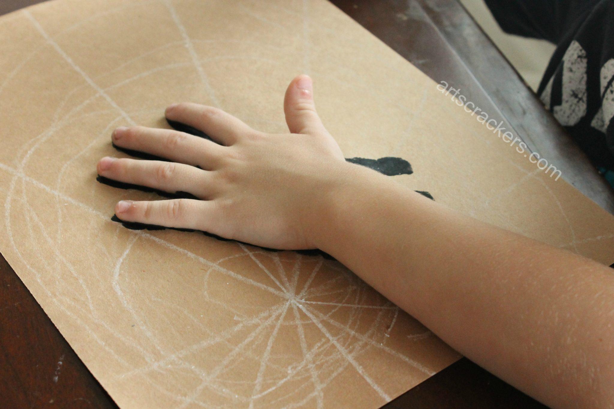 Handprint Spider Palm Down