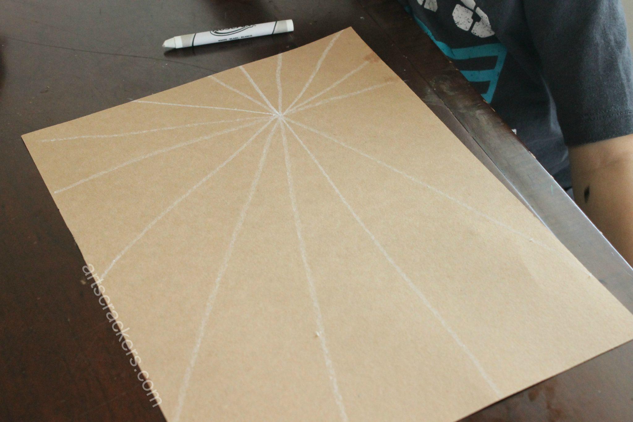 Handprint Spider Web Lines