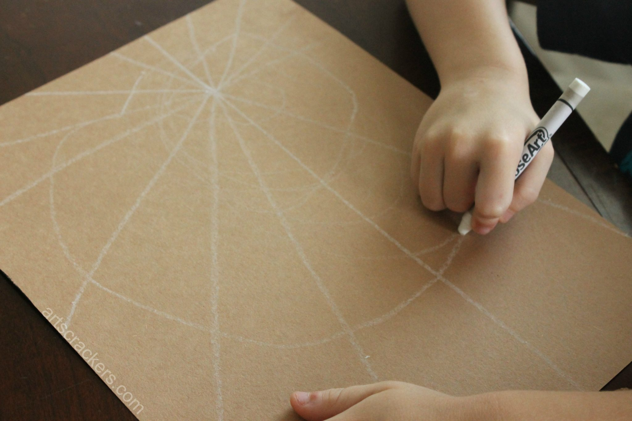 Handprint Spider Web Spirals