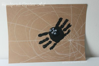 Handprint Spider on Web
