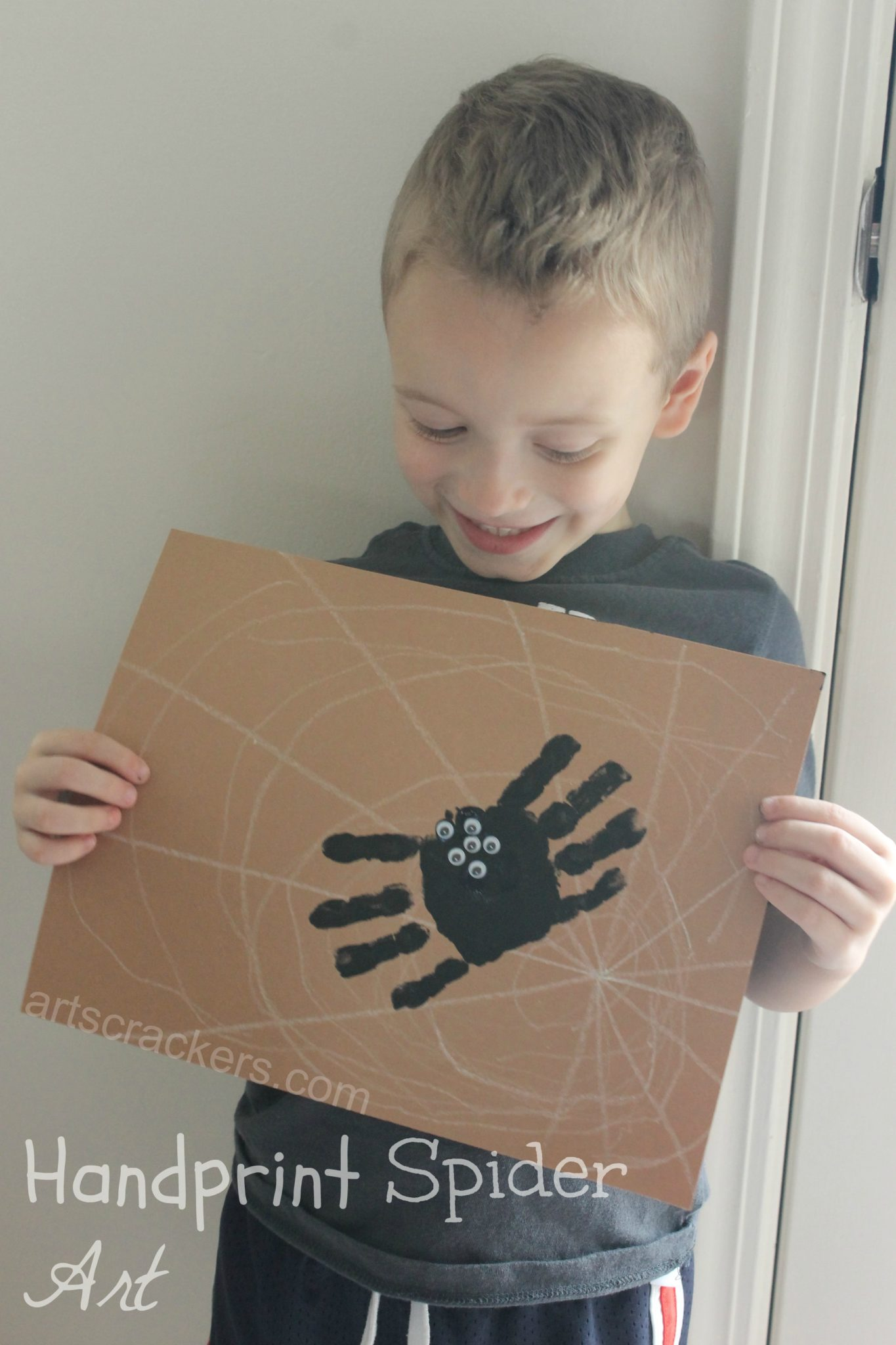 Handprint Spider on Web Art
